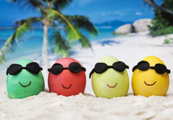 Ostern Strand Feiertage