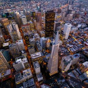 USA San Fransisco Kalifornien von oben