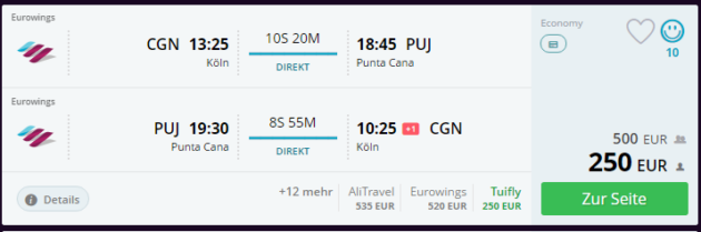 Köln nach Punta Cana