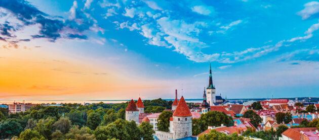Estland Tallinn Burg Panorama