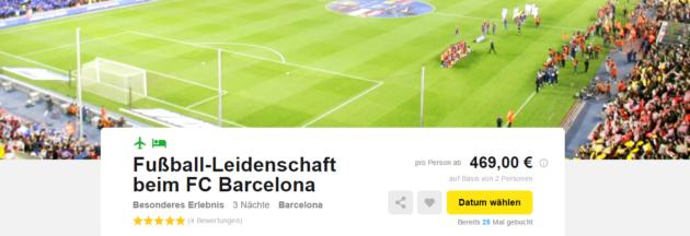 FC Barcelona und Städtetrip