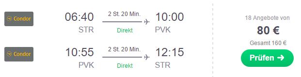 Flug Stuttgart Preveza