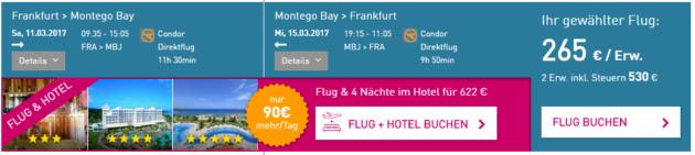 Frankfurt nach Montego Bay