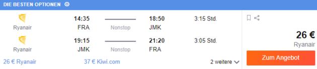 Frankfurt nach Mykonos