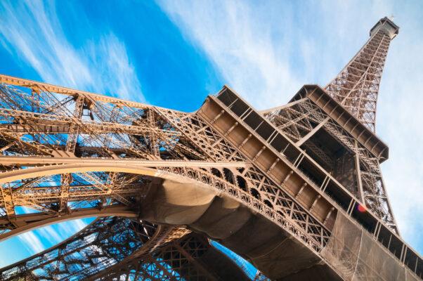 Frankreich Paris Eiffelturm nah