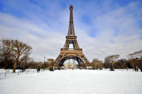 Frankreich Paris Eiffelturm Winter