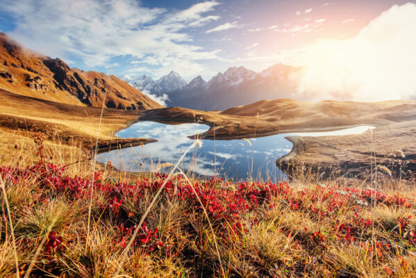 Georgien Berge Sonnenuntergang