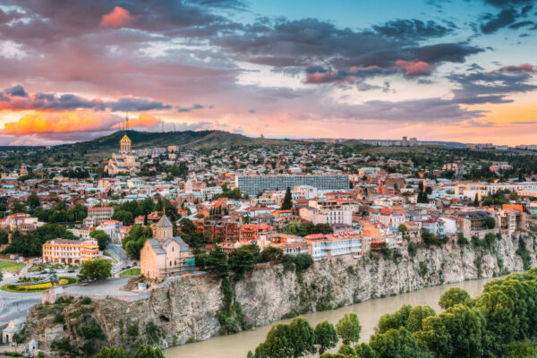 Georgien Tbilisi Aussicht