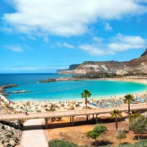 Familienurlaub Gran Canaria: 7 Tage im TOP 4* Hotel mit All Inclusive, Flug, Transfer & Zug nur 391€