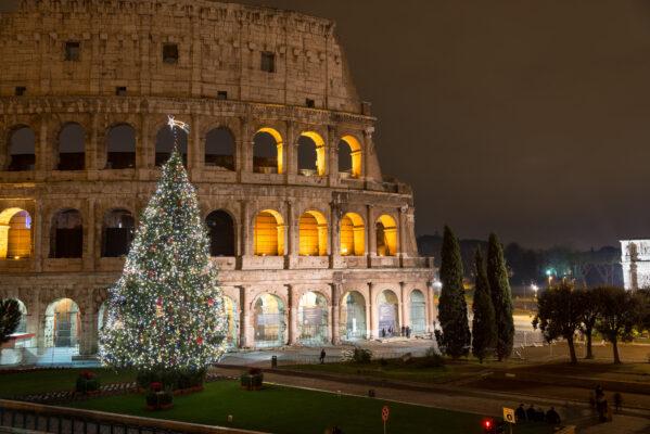 Italien Rom Colloseum Schnee