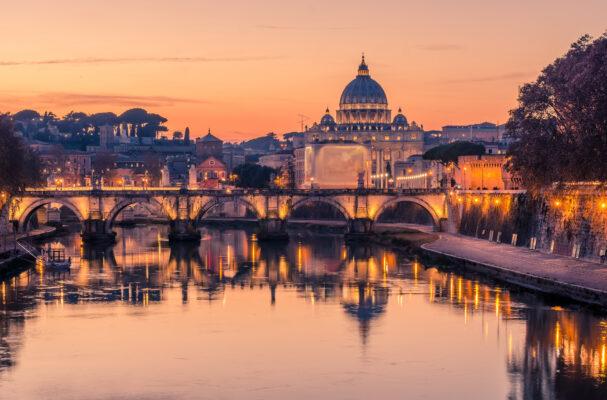 Italien Rom Sonnenuntergang