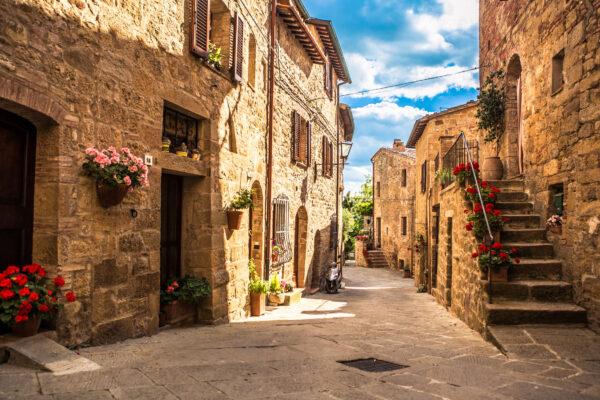 Italien Toskana Gasse