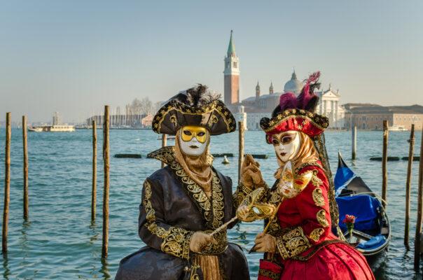 Italien Venedig Venezianische Masken
