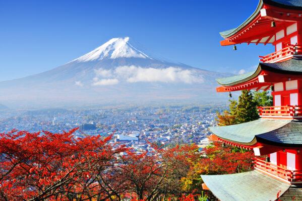 Japan Fuji Frühling