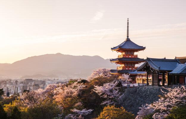 Japan Kyoto Tempel abend