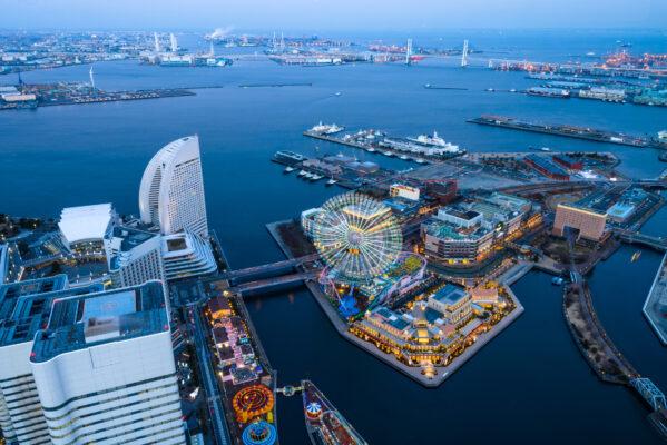 Japan Yokohama von oben