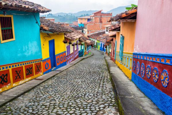 Kolumbien Guatape Häuser