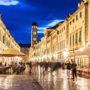 Kroatien Dubrovnik Fußgängerzone