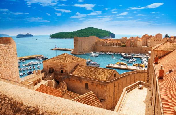Kroatien Dubrovnik Stadtmauer