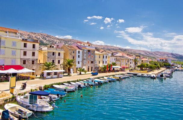 Kroatien Pag Boote Meer