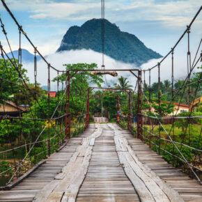 Laos Brücke