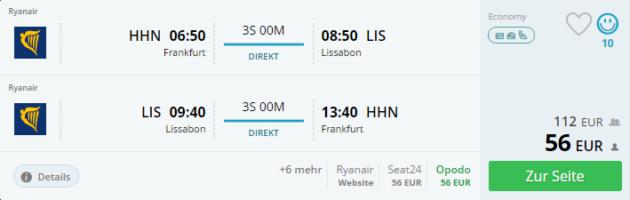 Lissabon Portugal Flug