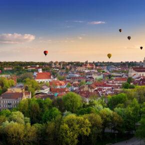 Litauen Vilnius Ausblick