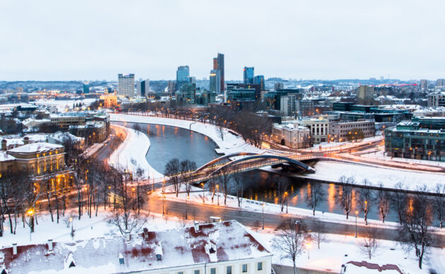 Litauen Vilnius Winter