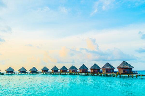 Malediven Hütten