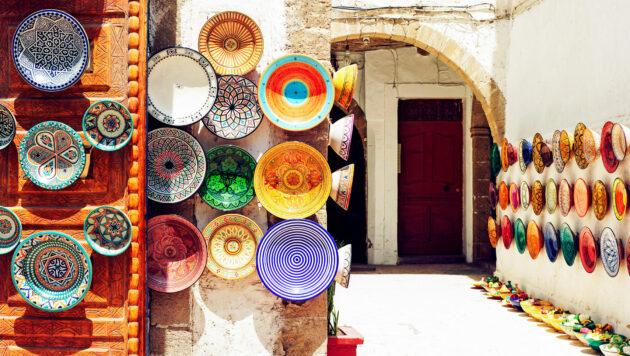 Marokko Marrakesch Teller