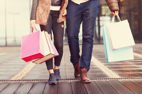 Paar Shopping Stadt