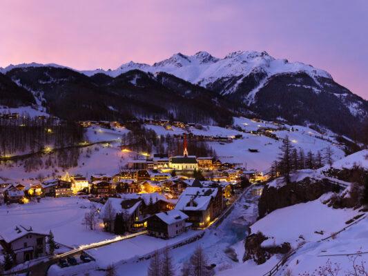 Österreich Sölden Skifahren