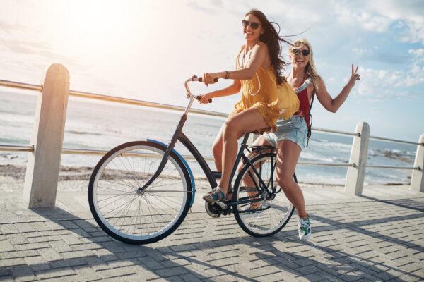 Fahrrad Freunde Städtetrip