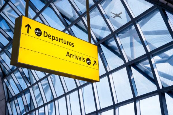 Flughafen Schild