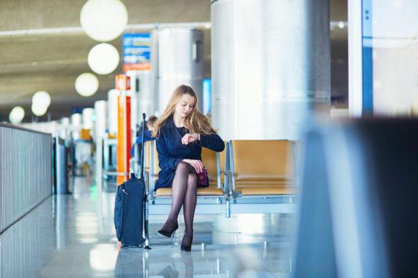 Flughafen Warten
