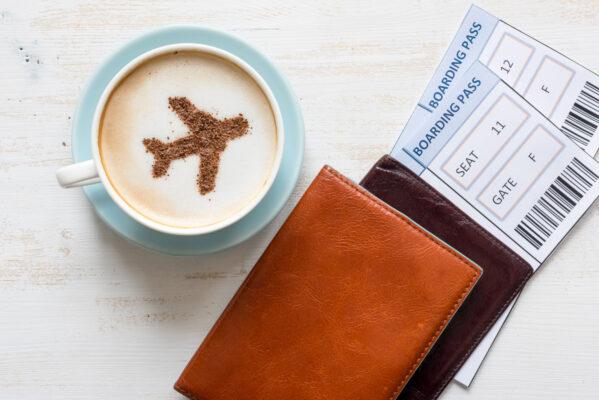Flugzeug Kaffee