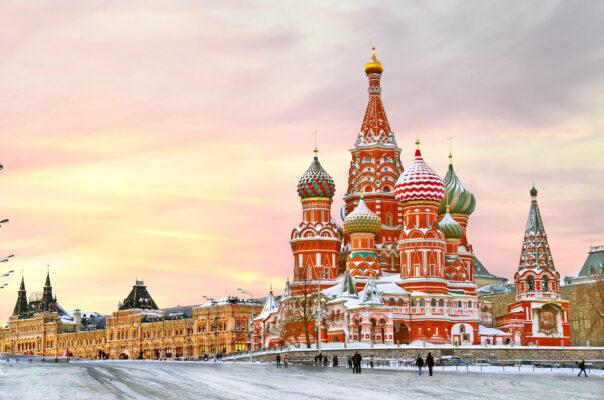 Russland Moskau St. Basils Kathedrale