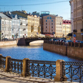 Russland Saint Petersburg Fluss