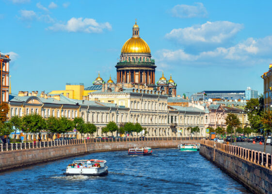 Russland St. Petersburg Fluss