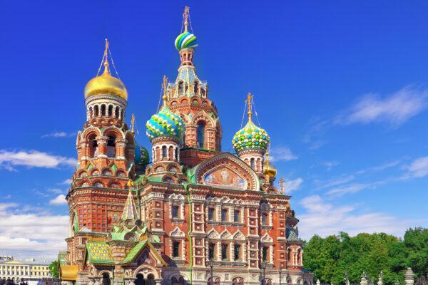 Russland St. Petersburg Kirche