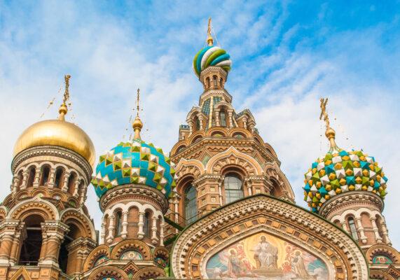 Russland St. Petersburg Kirchtürme