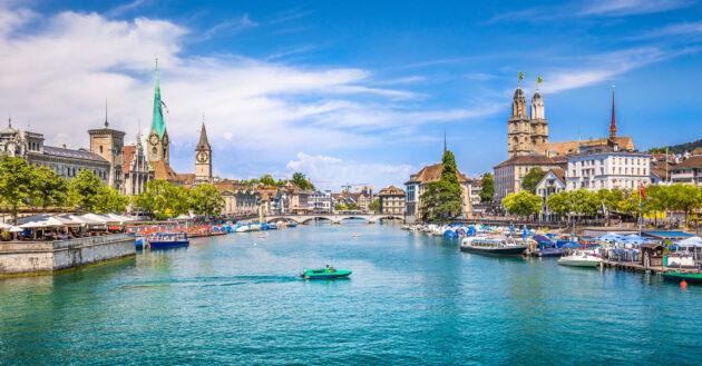 Schweiz Zürich Fluss