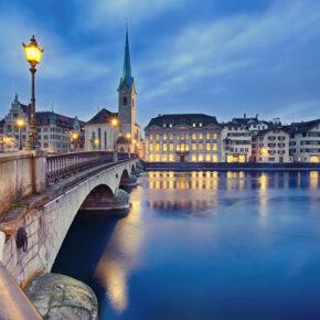 Schweiz Zürich Nacht