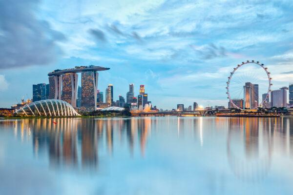 Singapur Skyline Riesenrad