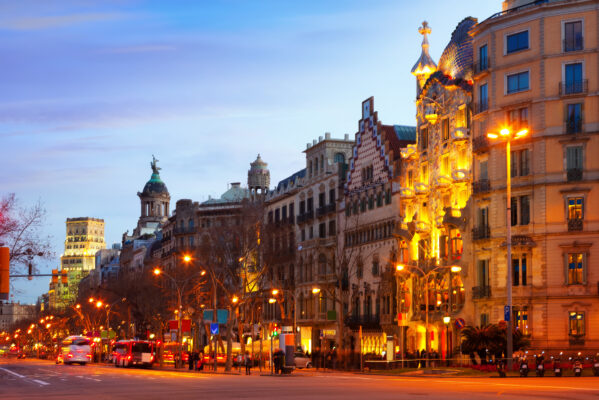 Spanien Barcelona Häuser