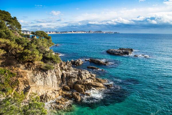 Spanien Costa Brava Klippen