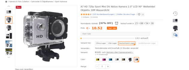 Action Cam Angebot