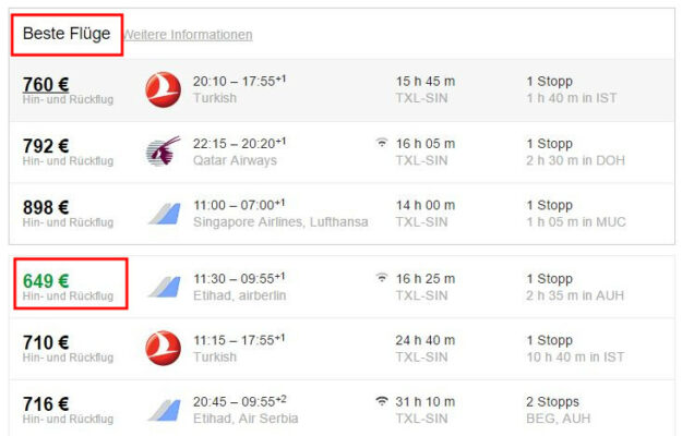 Google Flights Bester Flug