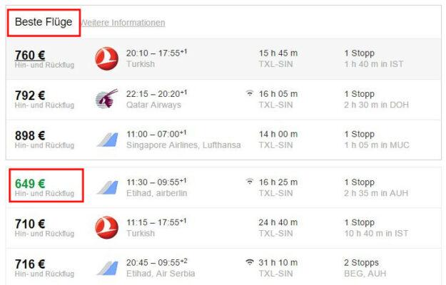 Google Flights Bester Flug