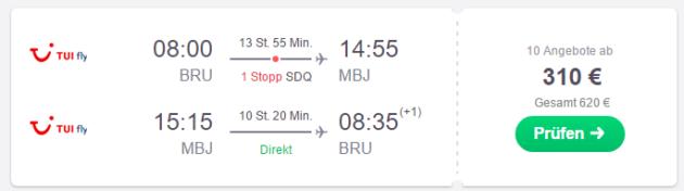 Brüssel nach montego Bay